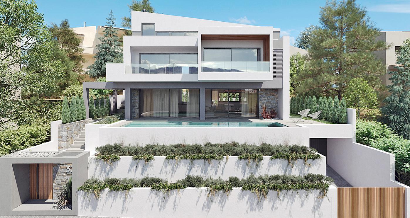 Private residence at Nea Penteli