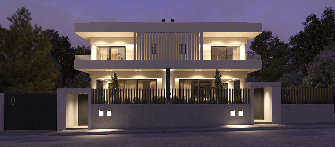 LKMK Architects-Twin houses at Melissia