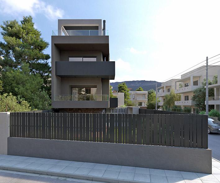 LKMK Architects-Μονοκατοικία στο Ν.Ψυχικό